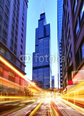 Willis Tower at night time