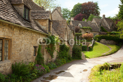 Traditional Cotswold cottages in England. Bibury , UK.