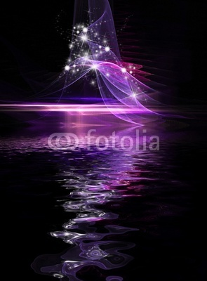 Abstract Cosmic Holiday background with stars and sparkles